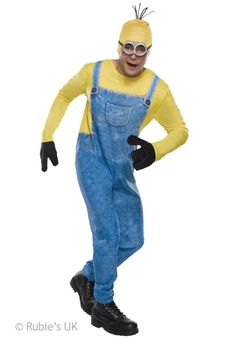 You Can Now Dress Up Like Your Favorite Minion From The Despicable Me Movies! Minon Kevin Costume Comes With A Printed Jumpsuit, Gloves, Headpiece, And Goggles. Adult Standard Size Fits Sizes Up To Polyester. Care Instructions: Do Not Dry Clean,