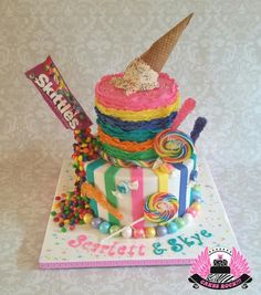 Candyland Rainbow First Birthday - Cake by Cakes ROCK!!!