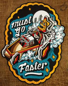 MUST GO FASTER back patch
