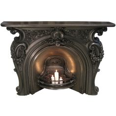 Mid-Victorian Cast Iron Fire Place | From a unique collection of antique and modern fireplaces and mantels at https://www.1stdibs.com/furniture/building-garden/fireplaces-mantels/