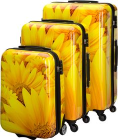 Having a bad mood? We are quite sure our Sunflower SUITSUITCASE will cheer you up!  We associate traveling with happiness and  these beautiful yellow Sunflowers make us very happy!