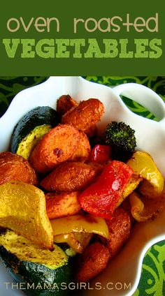 Amazing Oven Roasted Vegetables - The secret is in the seasoning! YUM!