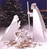 Plans for wood nativity outside display $14