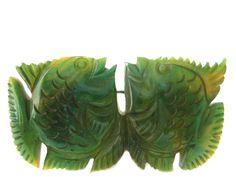 Pretty  Vintage  Bakelite  Lg Fish Brooch via Etsy.