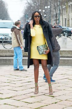 Love this! Without the jacket. I would like to see the clutch in gold so that the shoes are more of the accent.