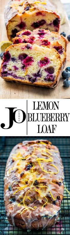This lemon blueberry yogurt loaf is moist and delicious with just the right amount of blueberries and lemon. Enjoy a slice for dessert today, perfect with tea or coffee! (Pour Cake Dessert Recipes)