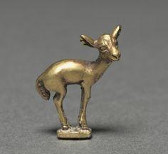 Gold Elk Fawn Finial, 5th-3rd Century BC Scythian, Western Asia