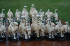 "East India (""John"") Company Ivory Chess Set"