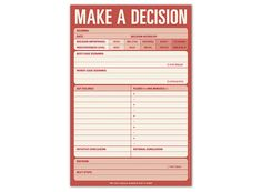 Make a Decision Pad – Decision-Making Help Notepad by Knock Knock #KnockKnockStuff