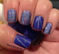 Dance Legend Spring Wow Prism with Essie Chills and Thrills nail vinyl nail art