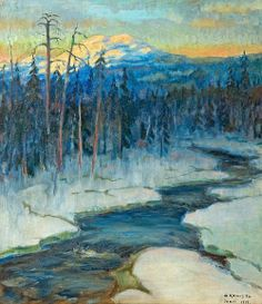 Aukusti Koivisto (1886-1962): 'View of Lapland', 1919