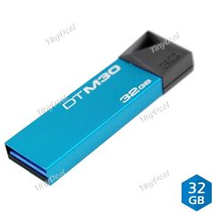 KINGSTON DTM30 Data Traveler 32GB USB 3.0 USB Flash Drive Flash Disk U Disk-Blue EUD-370322