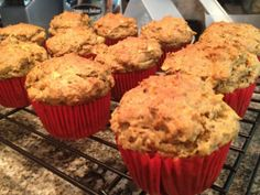 Carrot, Apple & Ginger Muffins (Gluten-Free, Refined Sugar Free, and mostly Vegan)