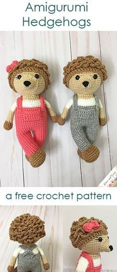 Do you love hedgehogs? I do too! These adorable forest friends work up fast and easy with this complete photo tutorial! Best yet, they're a free crochet pattern!