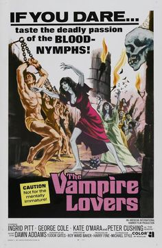 The Vampire Lovers. One sheet poster.