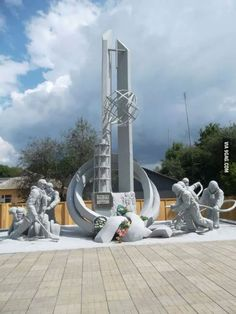 This is a memorial to the first responders who died horribly to save others in the Chernobyl disaster 28 years ago.
