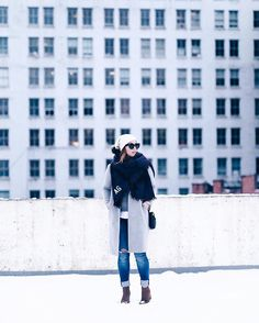 Style strategies for coping with this last bout of snow today on TVOB - link in profile!  #ootd #winterfashion : @theaugustdiaries