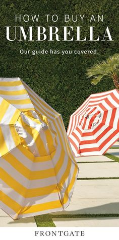 From market umbrellas to specialty shades, Frontgate's comprehensive umbrella guide has you covered!