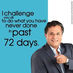 A challenge for all my fans!  Comment and tell me what you plan to do, and what you have not done in past 72 days, before this year ends.