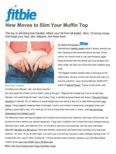 """Morris County NJ personal trainer and fitness expert Carey Yang is interviewed and featured in the authoritative source for diet, fitness and weight loss site MSN Fitbie. The title of the article is """"How to Lose Your Love Handles: 10 Moves to Slim Your Mufftin Top."""""""