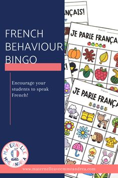 Looking for a fun & unique way to encourage your French students to « parler en français »? Why not give this French behaviour bingo a try?? French Behaviour Bingo is a fun way to reward your students for speaking French, with a little element of chance thrown in. #frenchimmersion Behavior Bingo, Oral Communication Skills, Sticker Chart, Bingo Board, French Immersion, How To Speak French, Second Language, Calling Cards, France