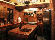 diseño interiores cocinas mexicanas coloniales - Buscar con Google