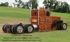 What we do in our spare time! Transport we made from hay bales to advertise the Campbellford Fair