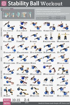 Fitwirr's 5 Workout Posters Pack 19X27: Dumbbell Exercises, Stretching, Exercise Ball, Resistance Band Exercises, Bodyweight Exercises for Women: Exercise Chart. Core Exercises, Balance Training