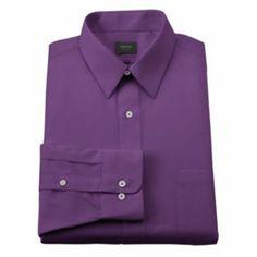 Arrow Classic-Fit Solid Poplin No-Iron Point-Collar Dress Shirt - Men