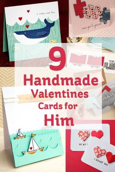 Whatever your crafting talent there's no excuse not to make your Valentine's card this year. We've found some great inspiration for you, with these 9 Handmade Valentines Cards for the special man in your life. Homemade Valentine Cards, Valentine Day Crafts, Homemade Cards, Happy Valentines Day, Valentine Ideas, Paper Cards, Diy Cards, Hobbies And Crafts, Diy Gifts