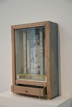 (Medici Princess) (1950-52) Joseph Cornell (1903-1972) USA artist/sculptor, pioneer and most celebrated exponent of assemblage. Influenced by the Surrealists. Cornell's most characteristic art works were boxed assemblages created from found objects. These are simple shadow boxes, usually fronted with a glass pane, in which he arranged eclectic fragments of photographs or Victorian bric a brac, in a way that combines the formal austerity of Constructivism with the lively fantasy of…