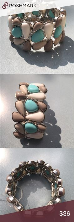 Just In NEW Slate Rock Colored Stone Bracelet Incredible statement piece Jewelry Bracelets