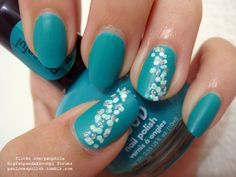 "Nail Art: ""Fun"" Dots in Teal by panphila, via Flickr"