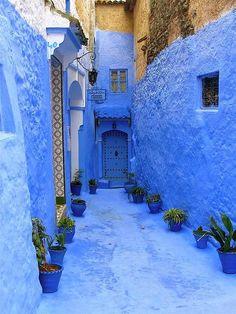 La ciudad azul de Marruecos