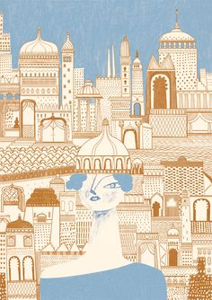 """The City of Phyllis Inspired by Italo Calvino's """"Invisible Cities"""". Giclée print - A2 © GOSIA HERBA 2015"""