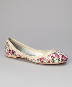 shabby chic floral flats