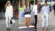 When things heat up, it's time to lighten up. Swap your blues for a perfect pair of white jeans. Here, 10 celebrities and style influencers illustrate fresh ways to style them.