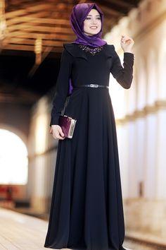 Gamze Polat Miray Elbise - Siyah
