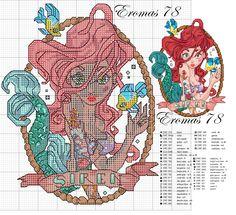 Picture only - Tim Shumate Disney Princess design - cross stitch pattern - Ariel Siren