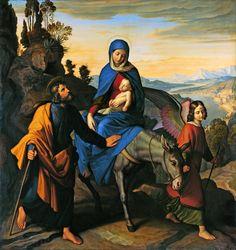 Julius Schnorr von Carolsfeld, Fuga in Egipt