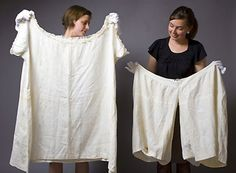 Kensington Palace curators hold Queen Victoria's undies.