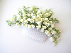 Lily of the Valley hair comb by VaVaRa on Etsy https://www.etsy.com/listing/105285385/lily-of-the-valley-hair-comb