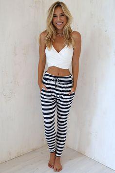 Stripe Chill Pants | SABO SKIRT
