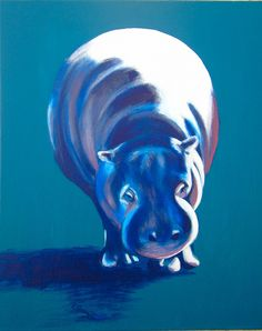 I really love this, could stare for hours... Blue Hippo (by Evelyn Curry)