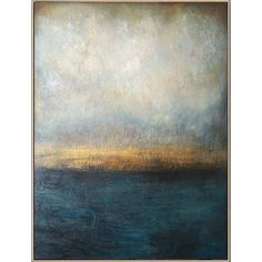 Abstract Blue Painting Gray Painting Landscape Painting Sunset Painting Ocean Painting | WATERSCAPE Blue Abstract Painting, Large Abstract Wall Art, Large Canvas Art, Large Painting, Abstract Paintings, Oil Painting On Canvas, All Nature, Landscape Paintings, Green Paintings