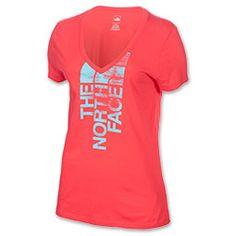 The North Face White Noise V-Neck T-Shirt| Finish Line