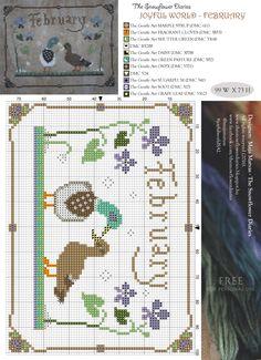 FEBRERO - Calendario de animalitos de Snowflower Diaries