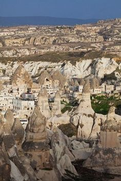 Capadocia Turkey--Underground cities and cities carved into mountain sides for Muslims to hide during the Crusades.