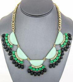 Fringe Beaded Necklace Set