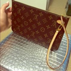 Authentic! ❤️Louis Vuitton Pochette Wristlet Authentic! ❤️Louis Vuitton Pochette..Almost New.. Leather in Perfect Conditions.. Used for 6 months.. Louis Vuitton Bags Clutches & Wristlets